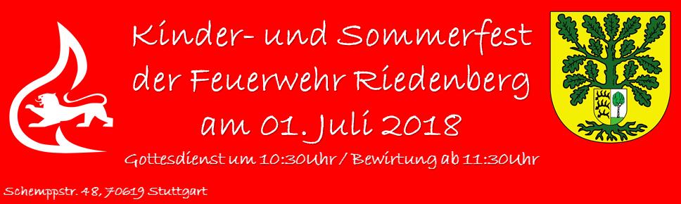 Kinder- & Sommerfest der Feuerwehr Riedenberg
